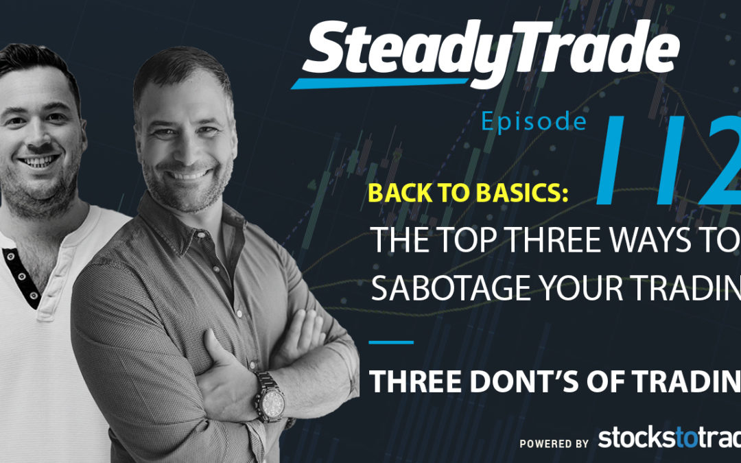 The Top Three Ways to Sabotage your Trading