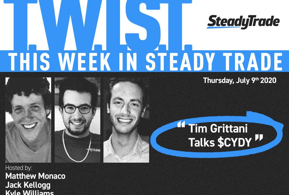 TWIST: Special Guest Tim Grittani Analyzes $CYDY & More