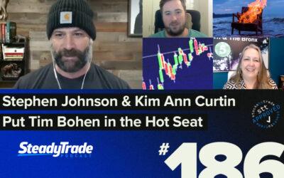Episode186: Stephen Johnson & Kim Ann Curtin Put Tim Bohen in the Hot Seat