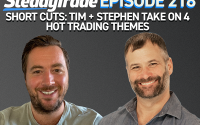 Ep 218: Short Cuts: Tim + Stephen Take on 4 Hot Trading Themes
